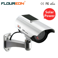 Waterproof Outdoor Fake Camera Powered Solar Or Battery Flicker Blink LED Dummy Camera Security Bullet CCTV