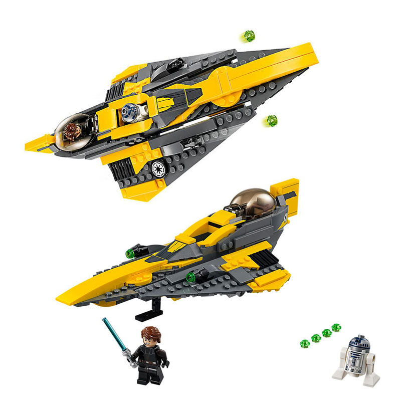IN Stock Star Wars Series Anakin's Jedi Starfighter Building Blocks Toys 277Pcs Compatible With Legoings 75214 ap4835gm
