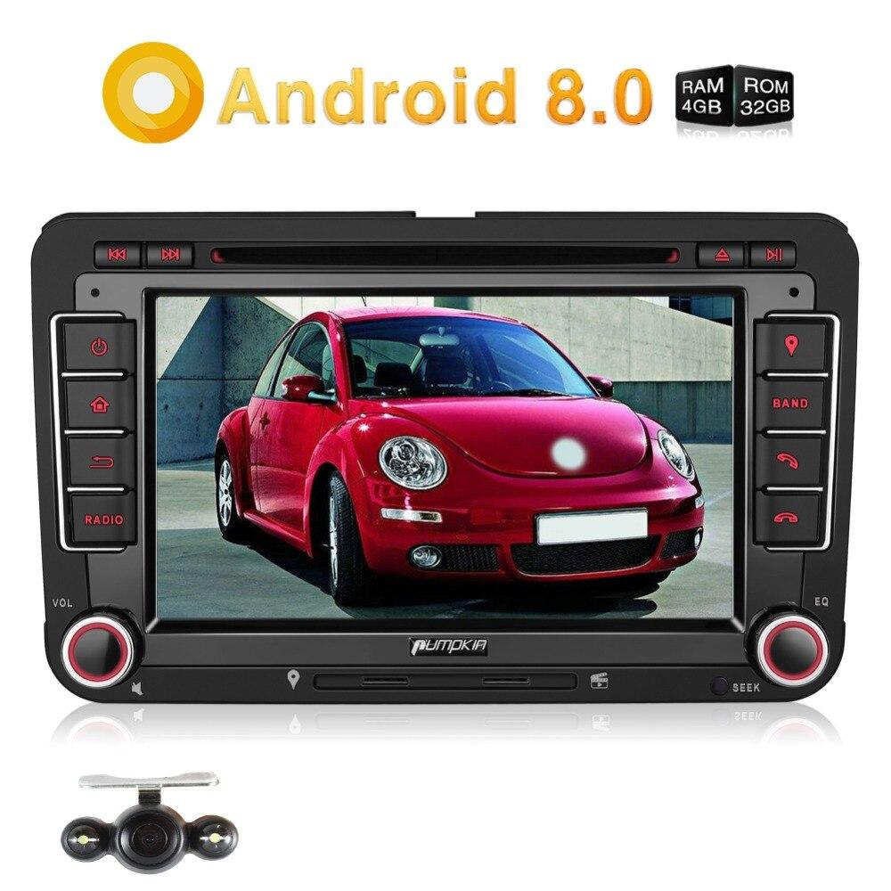 Pumpkin Car Multimedia Player 2 Din 7 Android 8.0 Car Stereo Octa-Core GPS Navigation For VW/Skoda/Seat/Golf Car Radio Audio isudar car multimedia player automotivo gps autoradio 2 din for skoda octavia fabia rapid yeti superb vw seat car dvd player