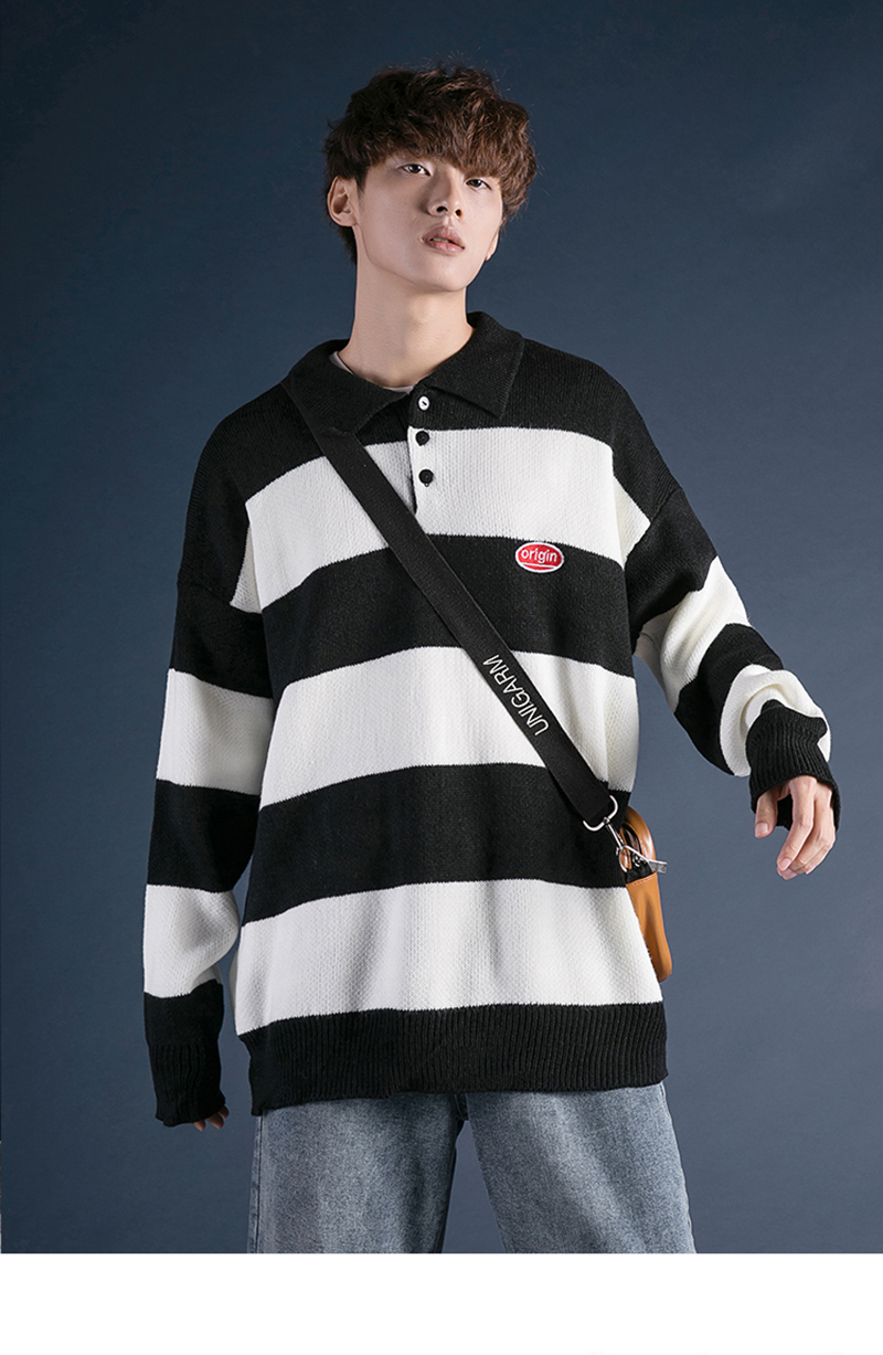 Korean Turtleneck Sweater Men Pullover Streetwear (20)