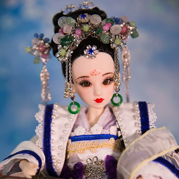 Vintage Chinese Style Dolls Noble Girl Doll Xu Hui Bjd Dolls With 3D Realistic Eyes Joint Body Christmas Gifts Toys 368 Free Sho