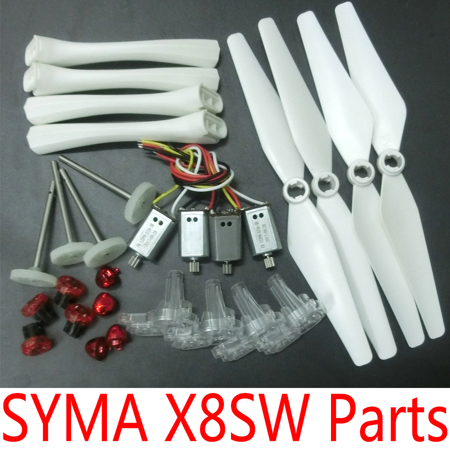 SYMA X8SC X8SW Original Spare Parts Motors Gears Propellers Landing Gear Tripod Engines Replacement Accessories Kits 8 replacement spare parts blender juicer parts 4 rubber gear 4 plastic gear base for magic bullet 250w 38