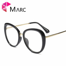 MARC WOMEN 2018NEW Optical Black glasses Plain glass spectacles fashion Red Glasses Frame Clear Round Oval 97542