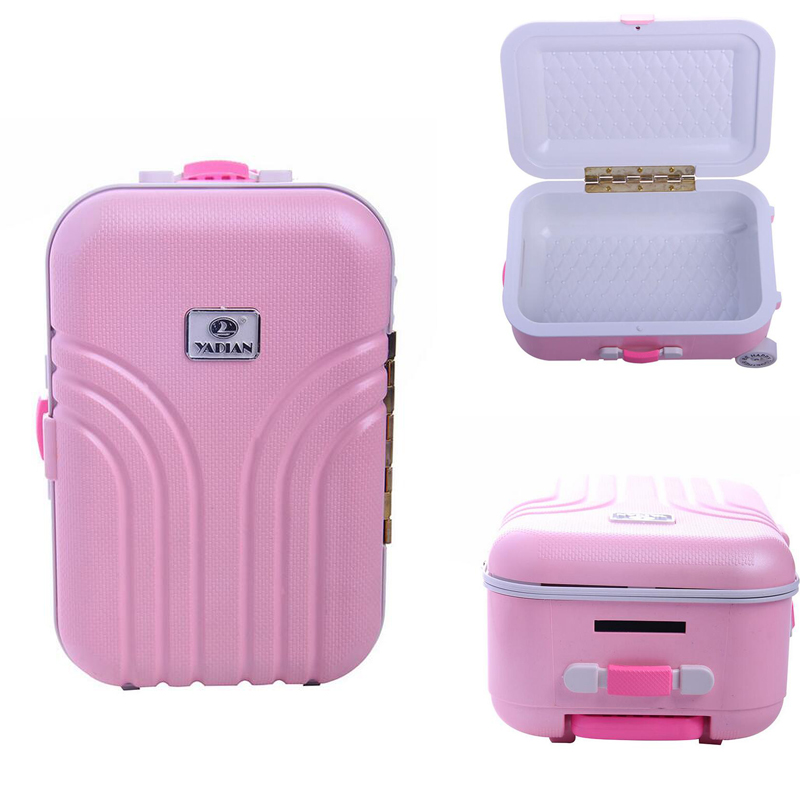 Doll Accessories Baby Born Zapf Dolls Travel Suitcase Pink Silver Suitcases For 43cm baby born doll 18 inch American Girl rose christmas gift 18 inch american girl doll swim clothes dress also fit for 43cm baby born zapf dolls