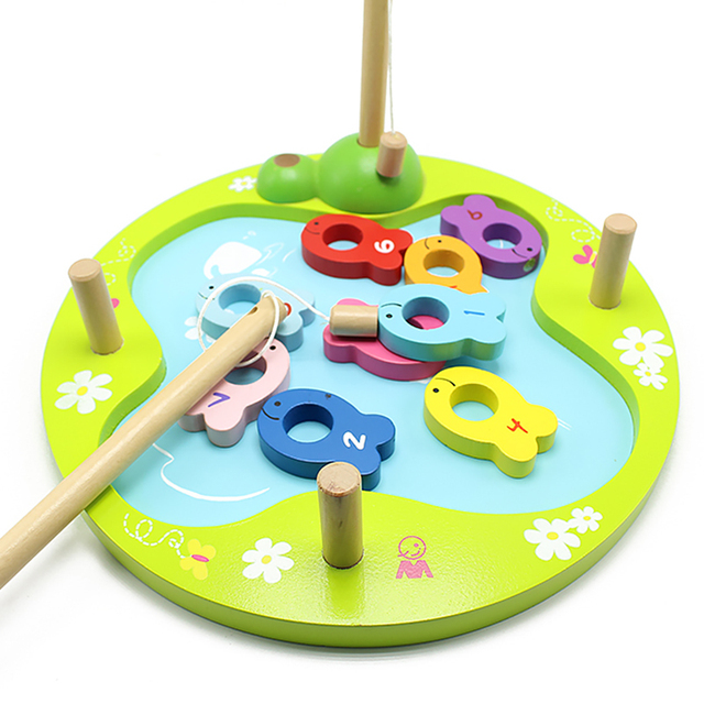 Simingyou Educational Toys For Children Fun Fishing Numbers Game Wooden Puzzle Toys For Kids SY05