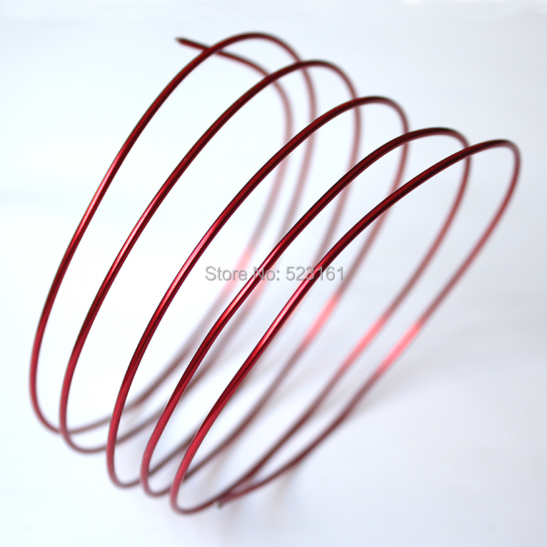 2017 New Color Al anodized aluminum craft wire 2.5mm round 10 gauge ...