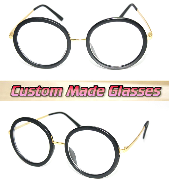 circular frame cats eye metal legs optical custom made optical lenses reading