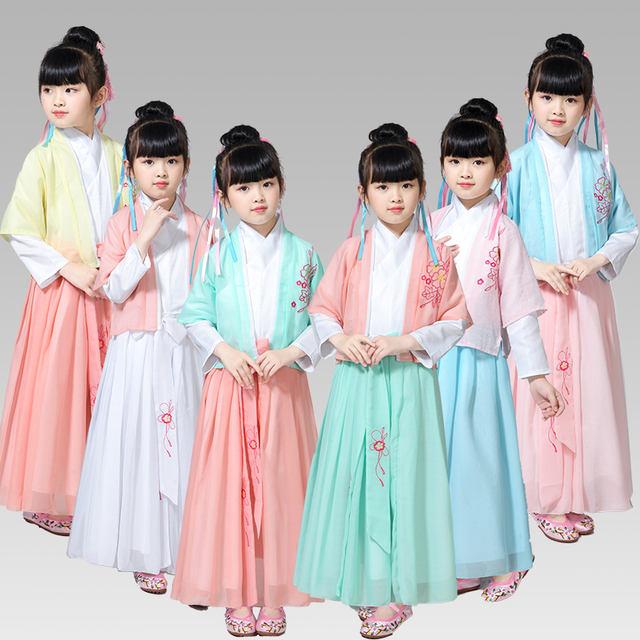d01f2c41d8a8 Girls Chinese Princess Costume Traditional Dance Costumes Kids Folk ...