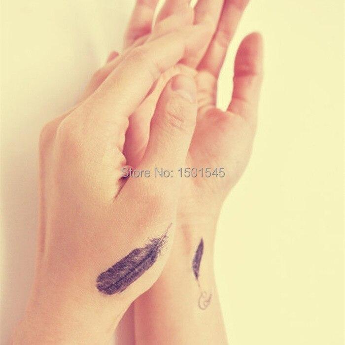 2e49dafdf waterproof,feather Temporary Tattoo(4pcs in 1 Set),Nice Tattoos, tiny  tattoos,fashion hand Temporary Tattoo-in Temporary Tattoos from Beauty &  Health on ...