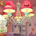 Lustres de cristal moderna lustre lustre quarto quarto Princesa menina das crianças dos desenhos animados conduziu a lâmpada
