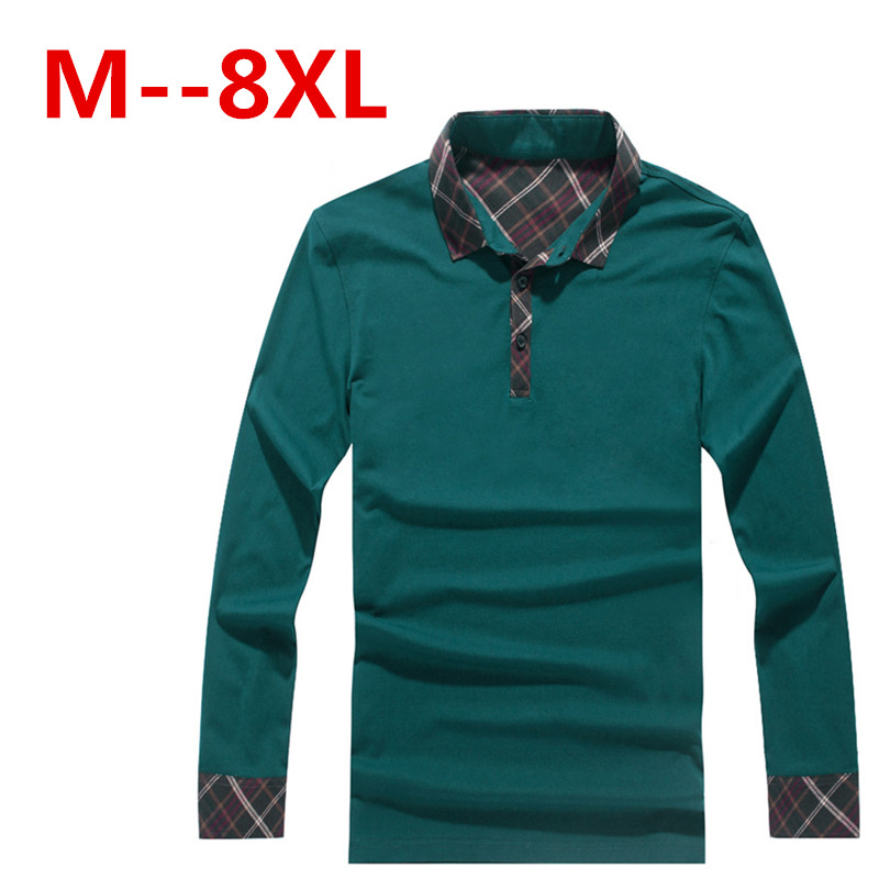 Free ship Turn-down collar man autumn spring 2015 new fashion long sleeve fitness casual t shirt camiseta tops & tees t-shirt - good luck shop store