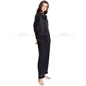 Image 5 - Ensemble pyjama en Satin de soie pour femmes, pyjama S,M, L, XL, 2XL, 3XL, vêtements de nuit Plus