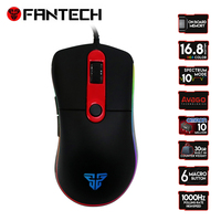 FANTECH X6 Wired Gaming Macro Mouse USB Optical RGB Lights Mouse Gamer 4000 DPI with 6 Button for PC Laptop Desktop Computer