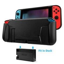 Nintend Switch Grip Perlindungan Kasus Fit Dalam Dock Kasus Soft yang Nyaman dan Menangani Kartu Permainan Penyimpanan