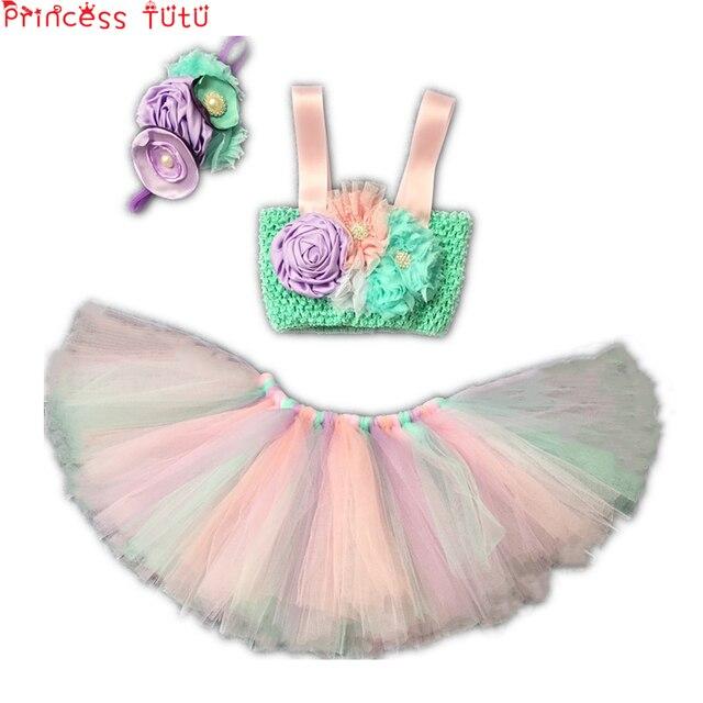 130427724 TUTU princesa elegante ropa de bebé niña