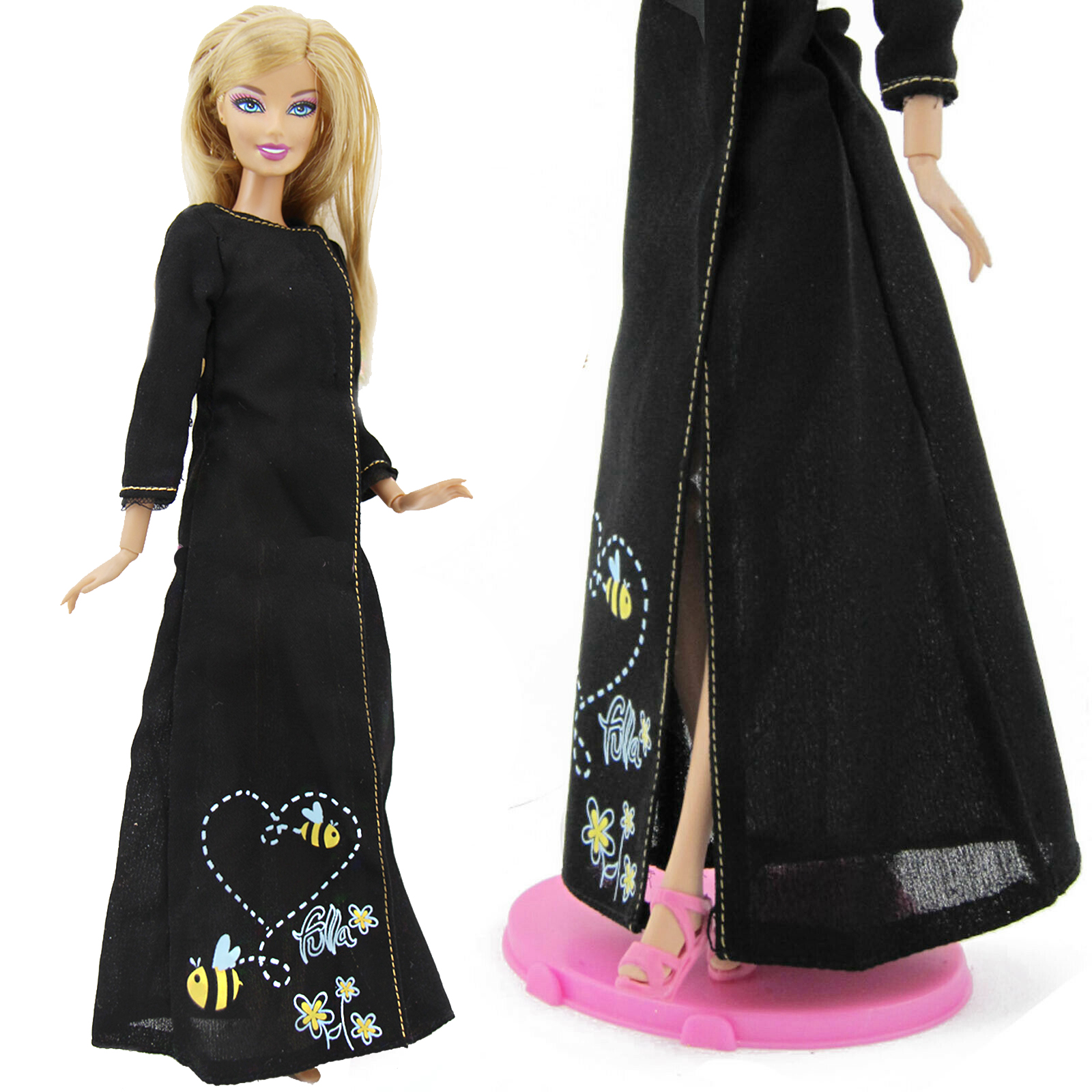 Children/'s Kids Black Mermaid Play Toy Doll 11.5 inches w// shoes /& acc.
