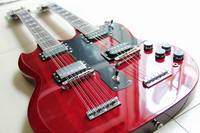New Arrival g double necks 1275 model electric guitar Wine Red Jimmy Page 1275 double necks electric guitar 120830