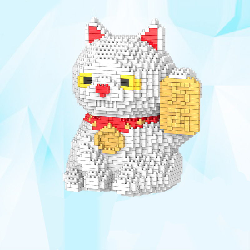 1616pcs. DIY Children Educational Bricks Toy Big Size Japanese Mascot Fat Lucky Cat Shaped Mini Diamond Building Blocks For Kids 1500 2200 pcs big size plastic cute cartoon designs of mini nano blocks diamond mini block toys for children diy game