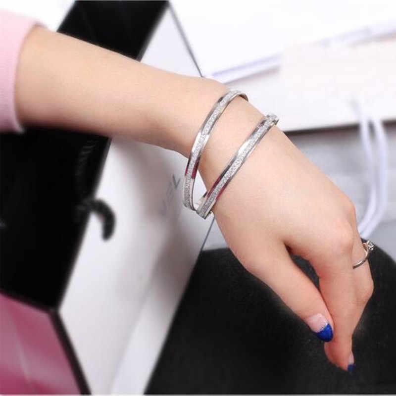 2018 nova moda coreana atacado único redondo fosco rosa ouro pulseira feminino presentes (preço único) atacado pulseira feminina