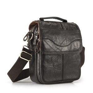 Повседневная мужская сумка Norbinus из натуральной кожи 8 дюймов, наплечный кросс-боди, мужской мессенджер из воловьей кожи, Сумка с ручками для ...
