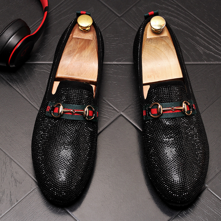 Mens Luxury Designer Fashion Leader Rhinestone Charm Platform Shoes Hip Hop Rock Prom Homecoming Zapatos Hombre Moccasins 59