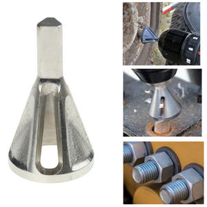 Chamfer-Tool Drill-Bit Tire-Repair-Tools Chuck Trimming Stainless-Steel for Burr Granding