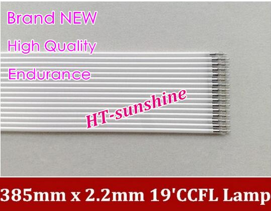 Supper light 50PCS/LOT CCFL 385 mm * 2.2 mm 19 LCD Backlight Lamp Hight quality 385mm CCFL Backlight tube