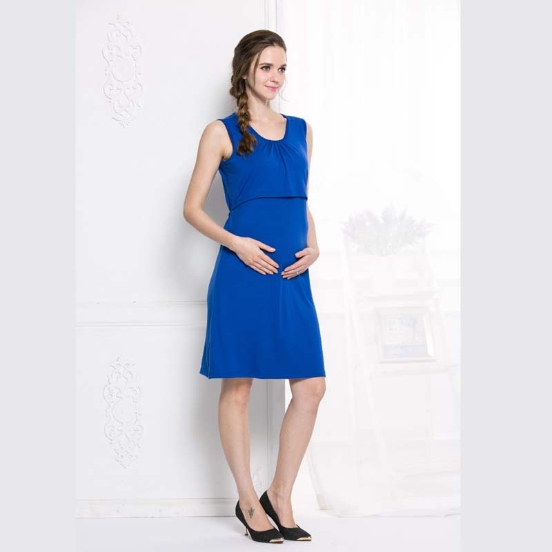 ae30beecca10b Maternity Dress Breastfeeding Nursing Clothes Summer Dress Cross way slim  fits Style 2017 New Arrival-in Dresses from Mother & Kids on Aliexpress.com  ...