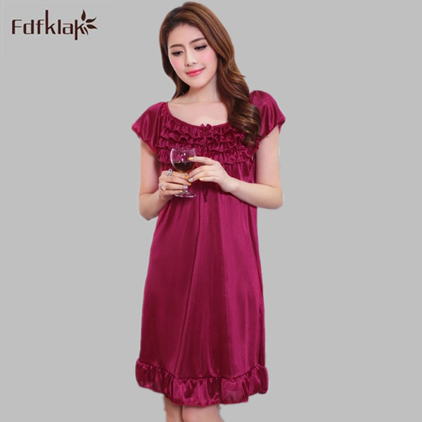 Summer Women Nightdress Plus Size Nightgowns Female Casual Home ...