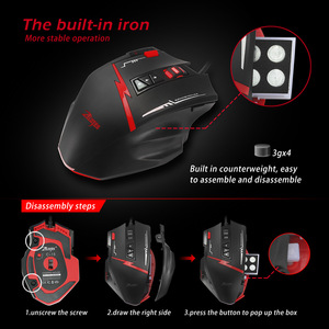 Image 4 - Zelotes C15 Computer Muis Hand Game Gaming Mouse 7000 Dpi 13 Programmeerbare Knoppen Gewicht Tuning Cartridg Gaming Muis