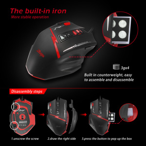 Image 4 - Zelotes C15 computer mouse hand game Gaming Mouse 7000 DPI 13 Programmable Buttons Weight Tuning Cartri gaming mouse