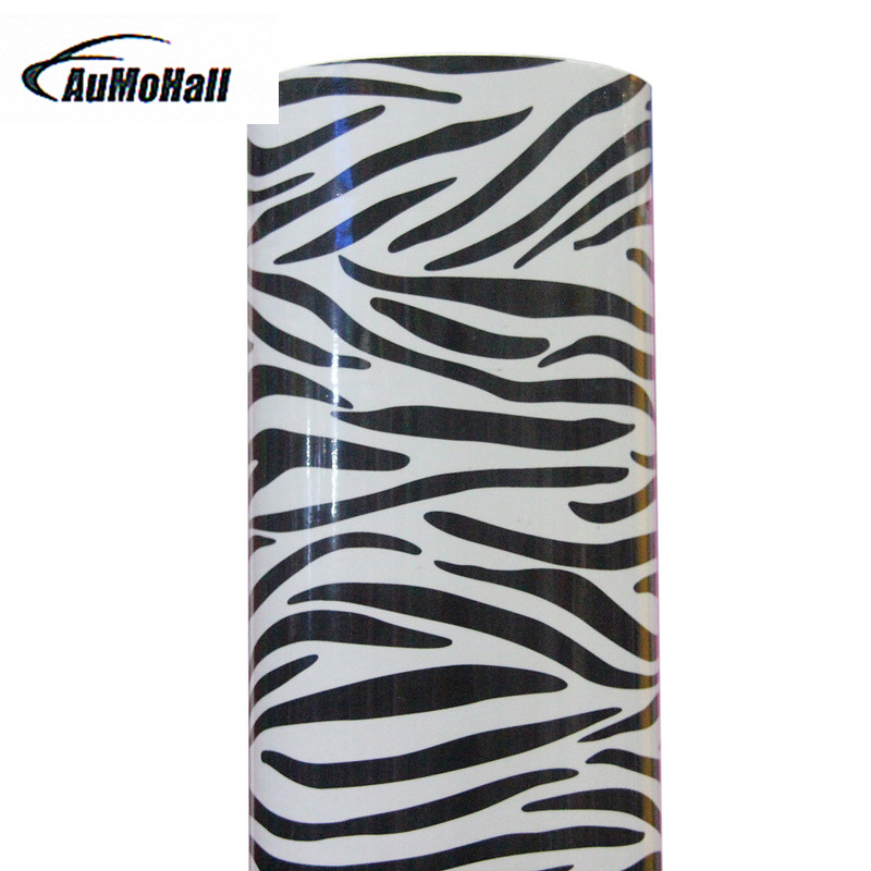 Popular Free shipping Zebra car styling Film car sticker High Quality 152*50CM Car Vinyl With Air Bubble Free For Car Decals high quality apple green carbon fiber film vinyl car sticker for car wrapping with air bubble free fedex free shipping 30m roll