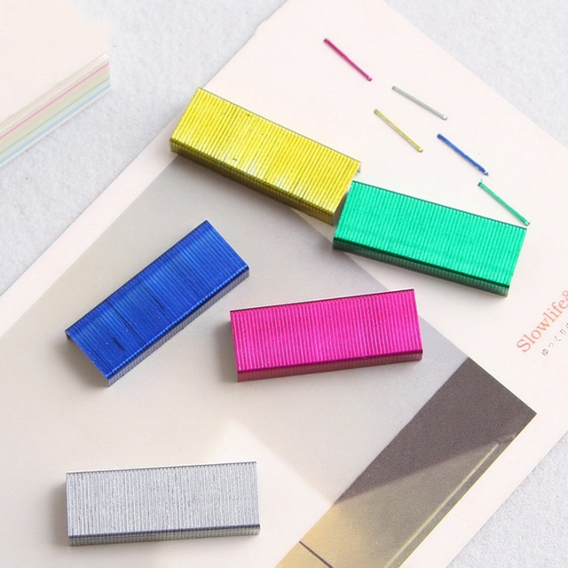 Colorful Stapler Book Staples Stitching Needle 1.2cm Book