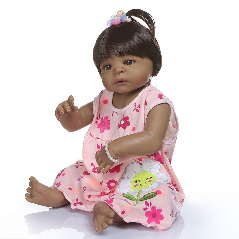 20in réaliste Reborn poupée souple pleine Silicone vinyle nouveau-né bébés singe réaliste fait à la main jouet enfants cadeaux d'anniversaire