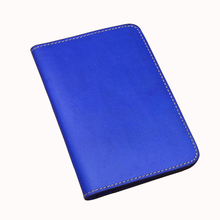 Passport Holder ID card Document bag wallet top grain genuine cow Leather passport cover protection mens wallet dropshipping