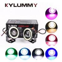 KYLUMMY 2 Pcs Car LED Fog Lamps Angel Eyes Daytime Running Lights R500 2 5 3