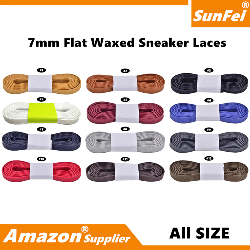 Premium 7MM Waxed Flat Sneakers Laces for Adidas Boots