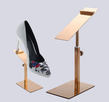 New Men/Women's shoes display stand rack high quality stainess steel shoe holder shelf adjustable metal shoes display rack