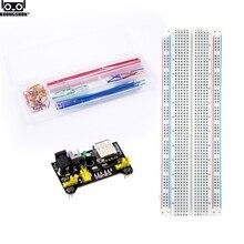 Electronics fun Kit Power Supply Module, Jumper Wire, 830 Breadboard Starter Kit for Arduino