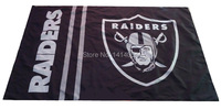 Oakland Raiders  Flag  150X90CM Banner 100D Polyester3x5 FT flag brass grommets 001, free shipping