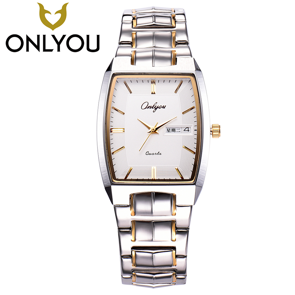 ONLYOU New Top Luxury Watch Men Brand Women Watches Waterproof Stainless Steel Band Business Quartz Wristwatch Fashion Watch onlyou luxury brand fashion watch women men business quartz watch stainless steel lovers wristwatches ladies dress watch 6903