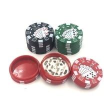Портативный 3 слоя чип 55 мм цинк Пластик специй табак травы курить Точильщик для курильщик, как аксессуары для курения сигаретная дробилка