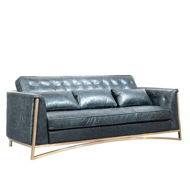 Hochwertig NEUE Foshan Echtem Leder Couch Guangdong Möbel Wohnzimmer Sofa Luxus