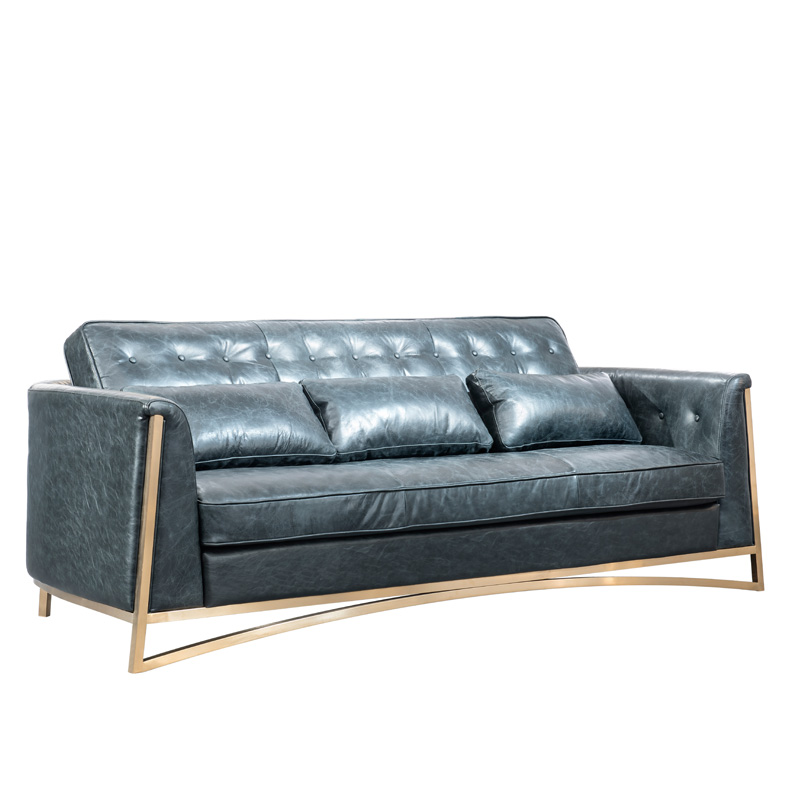 Galleria fotografica NEW foshan genuine leather couch guangdong furniture living room <font><b>sofa</b></font> luxury