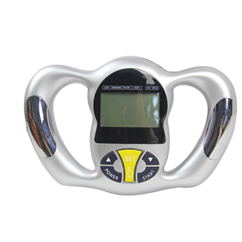 New Silver Health Monitor BMI Meter Handheld Tester Calculator Digital Body Fat Analyzer necessary for weight loss