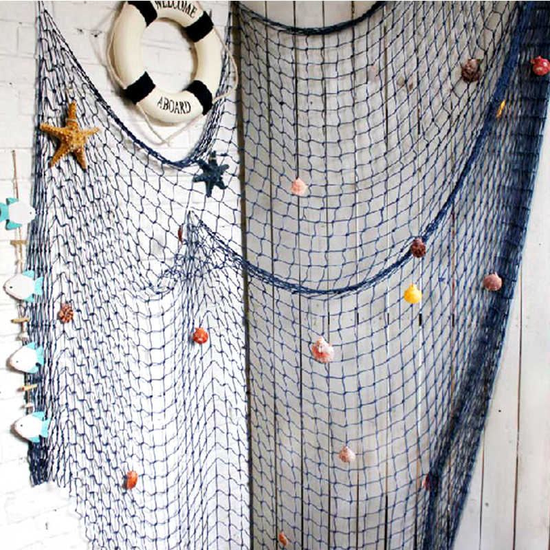 Fashion Home Decoration Wall Hangings HOT Home The Mediterranean Sea Style Wall Stickers Big Fishing Net Decoration