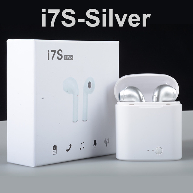 ( US Stock ) Wireless Headset Bluetooth Earpieces i7S Tws Earbuds Twins Earphone With Charging box Earphones For iPhone Samsung