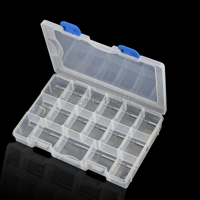 free shipping 15grid PP IC storage box thicken Category Box Sealed bin Home Component screw case Drug DIY part jewelry tool box