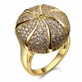 Wholesale cocktail party jewelry Free shipping Sphere shape Free Allergy Synthetic Cubic zirconia Womens large fashion rings
