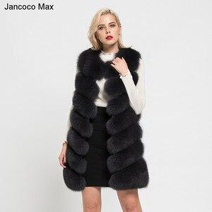 Image 3 - Jancoco 最大 2019 新リアルキツネの毛皮のベスト高品質女性のチョッキの冬のコート 7 行厚く暖かいジレ s7161